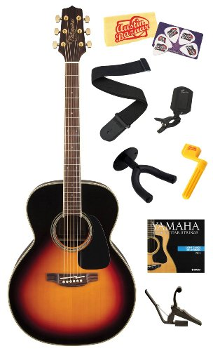 Takamine Gn51 Nex Body Solid Spruce Top Acoustic Guitar With Rosewood Fretboard Bundle With Strings, Capo, Strap, Wall Hanger, Tuner, Stringwinder, Picks, And Polishing Cloth - Brown Sunburst