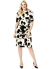 Plus Splodge Print Shift Dress