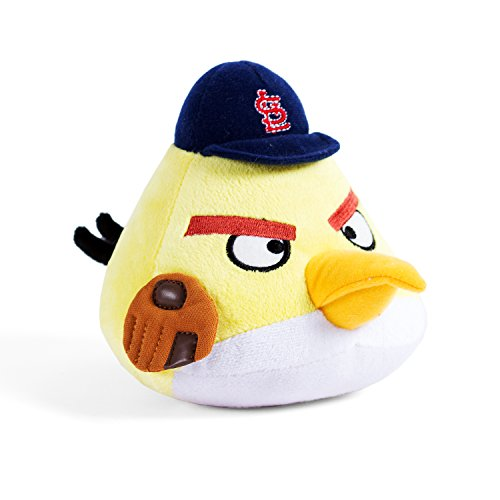MLB St. Louis Cardinals Angry Bird Plush Toy, Small, Yellow