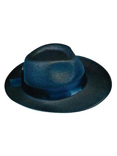 Deluxe Felt Gangster Hat - Black