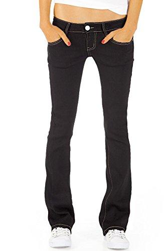 Bestyledberlin Damen Jeans hüftige Jeanshosen, Bootcutjeans low rise Hüftjeans Stretch Hose j46kw