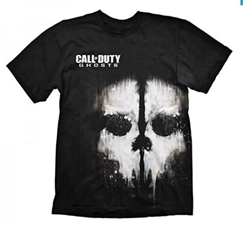 CALL OF DUTY - GHOSTS SKULL - OFFICIAL MENS T SHIRT - cotone, Nero, 100% cotone, Uomo, X-Large
