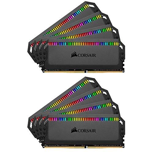 Corsair Dominator Platinum RGB 64GB (8x8GB) DDR4 3000 (PC4-24000) C15 1.35V Desktop Memory - Black (Tamaño: 64 Gb)