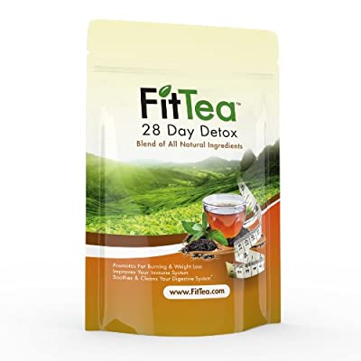 Fit Tea 28 Day Detox Herbal Weight Loss Tea - Natural Weight Loss, Body Cleanse and Appetite Control. Proven Weight Loss Formula.