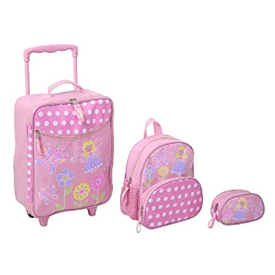Kids Fairy 3 Piece Luggage - Trolley Bag, Backpack and Pencil Case