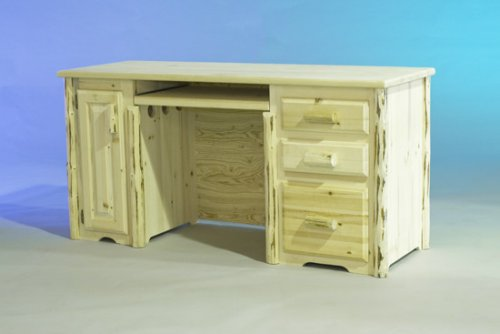 Log Furniture - Desk-Varnished - Free Shipping