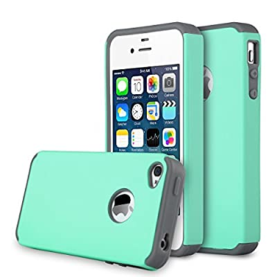 iPhone 4S Case, iPhone 4 Case, AUMI Dual Layer Hybrid Slim Armor Defender Case for Apple iPhone 4/4S from ULAK