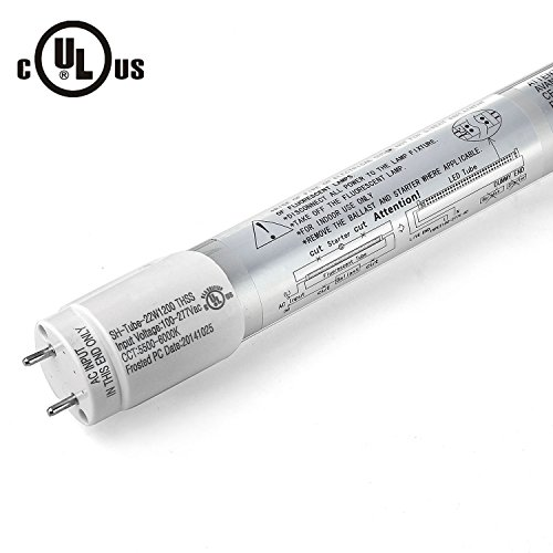 """Jacky Led 100% Ul Approved Cul Relisted Original Epistar Brightest 22 Watt 4-Foot 48"""" 1.2M 4Ft T8 T10 T12 Led Tube Light 50W Fluorescent Tube Replacement Light Lamp Fixture No Ballast No Uv & Ir Smd Bulb Ce Fcc Day White If It Is Not Ul Approved ,We Will"""