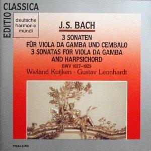 Bach: Sonatas for Viola da Gamba & Harpsichord (G Major, D Major, & G minor)