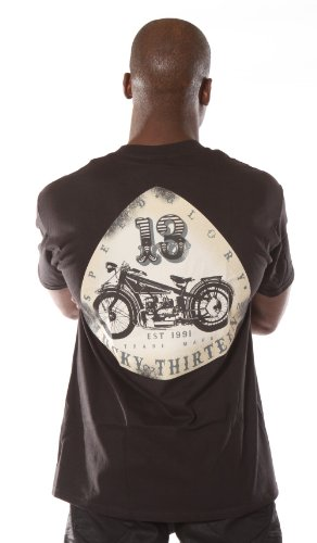 Lucky 13 Old Bike Mens t shirt Old School Motorcycle Lucky 13 Shirt Size: Medium