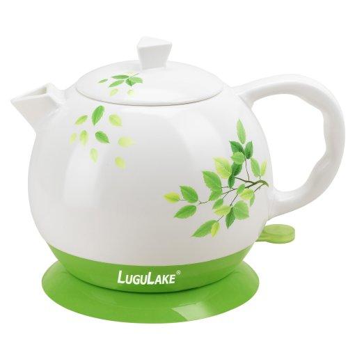 LuguLake Ceramic Teapot Electric Kettle Water Boiler 1.3L