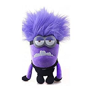 "12"" Plush Toy Despicable Me 2 Evil Minion Bad Minion Purple 2 Eyes Birthday GIFT"