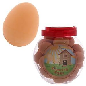 1 x Fake Joke Bouncy Rubber Egg Ball Great Fun