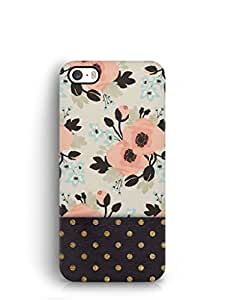 Cover Affair Flowers / Polka Dots Printed Back Cover Case for Apple iPhone 5S