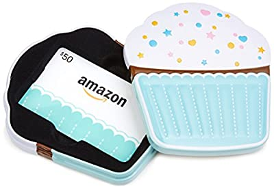 Amazon.com Gift Card in a Birthday Cupcake Tin (Birthday Cupcake Card Design)