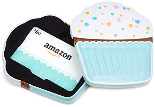 Amazon.com Birthday Cupcake Gift Card Tin – $50 image