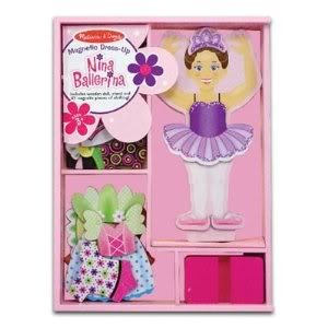 Incredible M & D Deluxe 27-Piece Nina Ballerina Magnetic Dress-Up - Endless Hours Of Fun Toy / Game / Play / Child / Kid