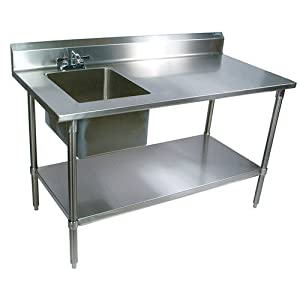 Prep Table With Sink, 72