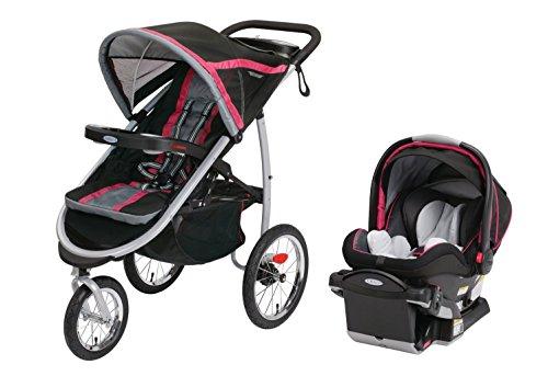graco fastaction fold jogging stroller snugride 40 car seat azalea baby shop. Black Bedroom Furniture Sets. Home Design Ideas