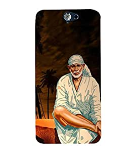Fuson Premium Back Case Cover Lord Sai baba With White Background Degined For HTC One A9