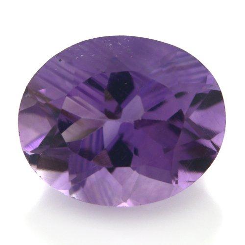 Natural Africa Purple Amethyst Loose Gemstone Oval Cut 11*9mm 3.85cts VS Grade