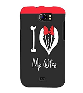 Fuson Love Quote Back Case Cover for MICROMAX CANVAS 2 PLUS A110 A110Q - D3958