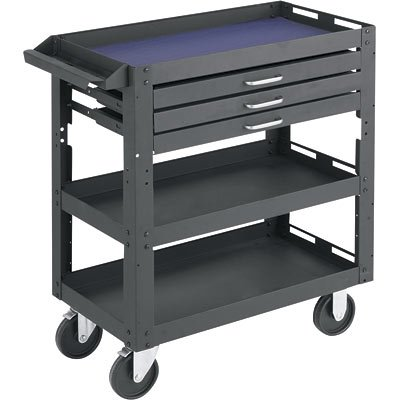 Northern Industrial 3-Shelf, 3-Drawer Work Cart