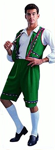 Adult Green Bavarian Man Halloween Costume (Size: Standard 42-46)