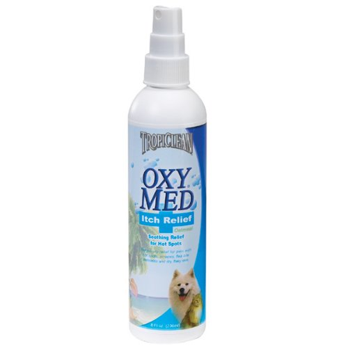 Tropiclean Oxy Med Itch Relief Spray 8oz