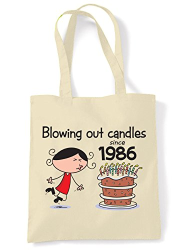 Blowing Out Candles Since 1986 30th Birthday Tote / Shoulder Bag