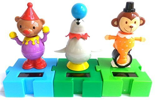 solar-powered-circus-animals-connectable-dancing-seal-monkey-bear-by-dollar-tree