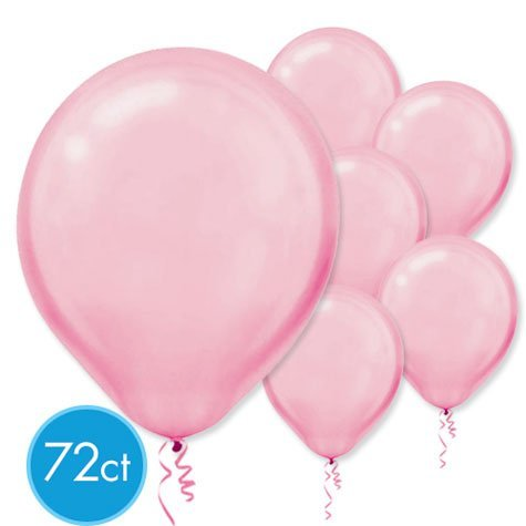 Pink Pearl 12in Latex Balloons 72ct
