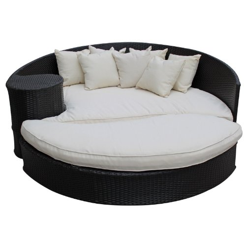 Black friday LexMod Taiji Outdoor Rattan Daybed with