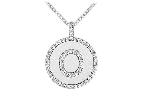 Pendant with initials gifts that you love this alphabet disc pendant is inscribed with the diamonds letter o and is surrounded by sparking round white diamonds of the circle aloadofball Choice Image