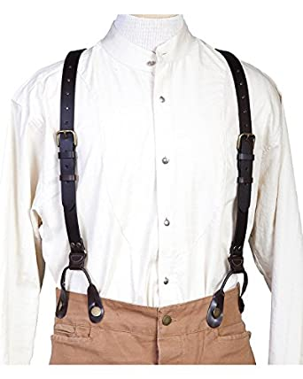 Victorian Men's Clothing t Leather Suspenders $41.08 AT vintagedancer.com