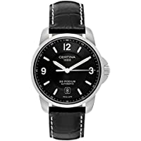 Certina DS Podium Genuine Black Leather Mens Automatic Watch (C001-407-16-057-00)