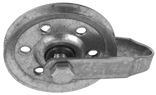 Images for National Hardware V7634 Two-Garage Door Pulleys with Fork, Axle Bolt and Nut, Galvanized, 3-Inch