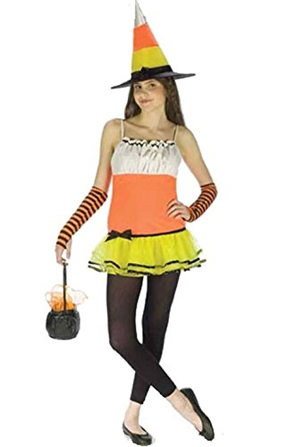 [Mememall Fashion Teen Candy Corn Witch Girl's Halloween Costume] (Scarlett O Hara Halloween Costumes)