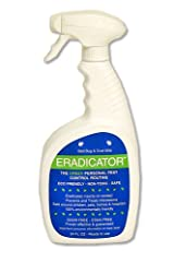 Bed Bug, Dust Mite ERADICATOR 24oz ready to use spray, natural solution that safely removes bugs, scientific efficacy test proven - 24oz ready to use spray
