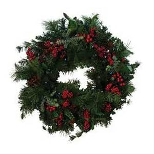 Click to read our review of Christmas Solar Lights: Flipo SOL-XMAS-WRE-1 Solar Powered Wreath