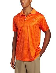 Puma Golf Men's New Wave Polo, Vibrant Orange, Large