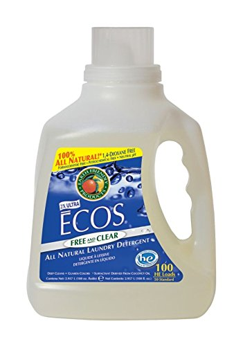 Earth Friendly Products Ecos Liquid Laundry Detergent, Free And Clear, 100 Ounce