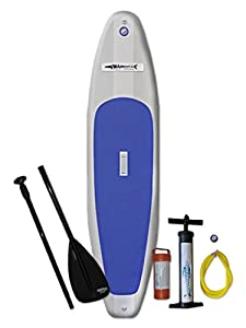 "10'6"" Inflatable Stand up Paddle Board(6"" Thick, 30"" Wide, 15psi Max) - Surf Model - Free Floating 3-piece Adjustable SUP Paddle and SUP Inflation Pump Included."