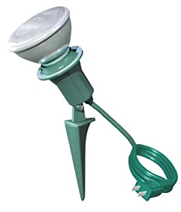 stanley 31263 lampmax deluxe outdoor flood light holder With outdoor spotlight with outlet