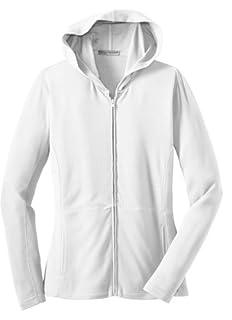 Port Authority Ladies Modern Stretch Cotton Full-Zip Jacket, white, XXXX-Large