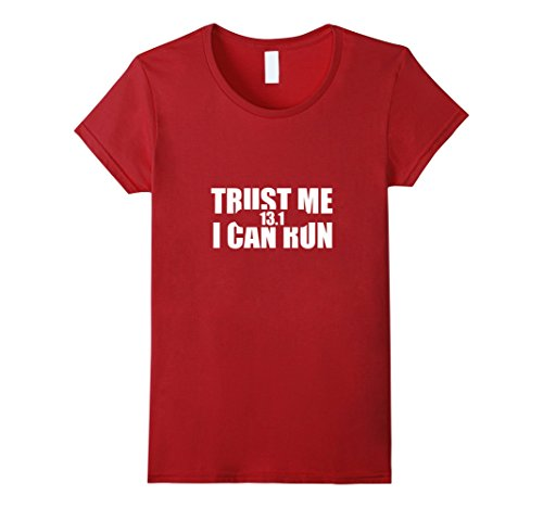 Women's Half Marathon 13.1 Running T-Shirt for Men and Women Large Cranberry (I Can Run compare prices)