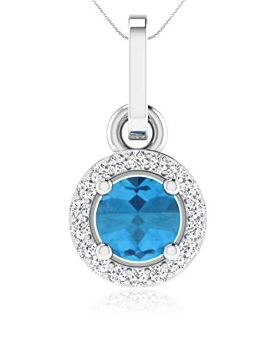 Art Of Diamond Collar Blue Topaz White Gold