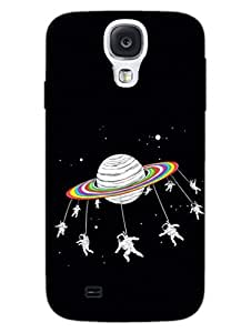 Astronaut - Merry Go Round - Travel To Space - Hard Back Case Cover for Samsung S4 - Superior Matte Finish - HD Printed Cases and Covers