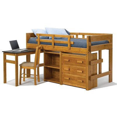 Low Loft Bed With Storage 9774 front