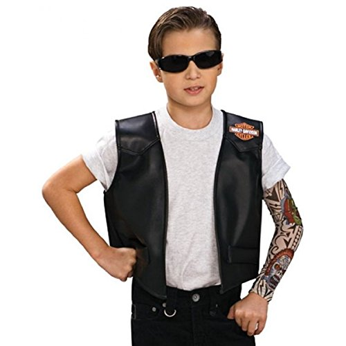 [Harley Boy Vest Costume Harley Davidson Halloween Fancy Dress] (80s Chick Costume)